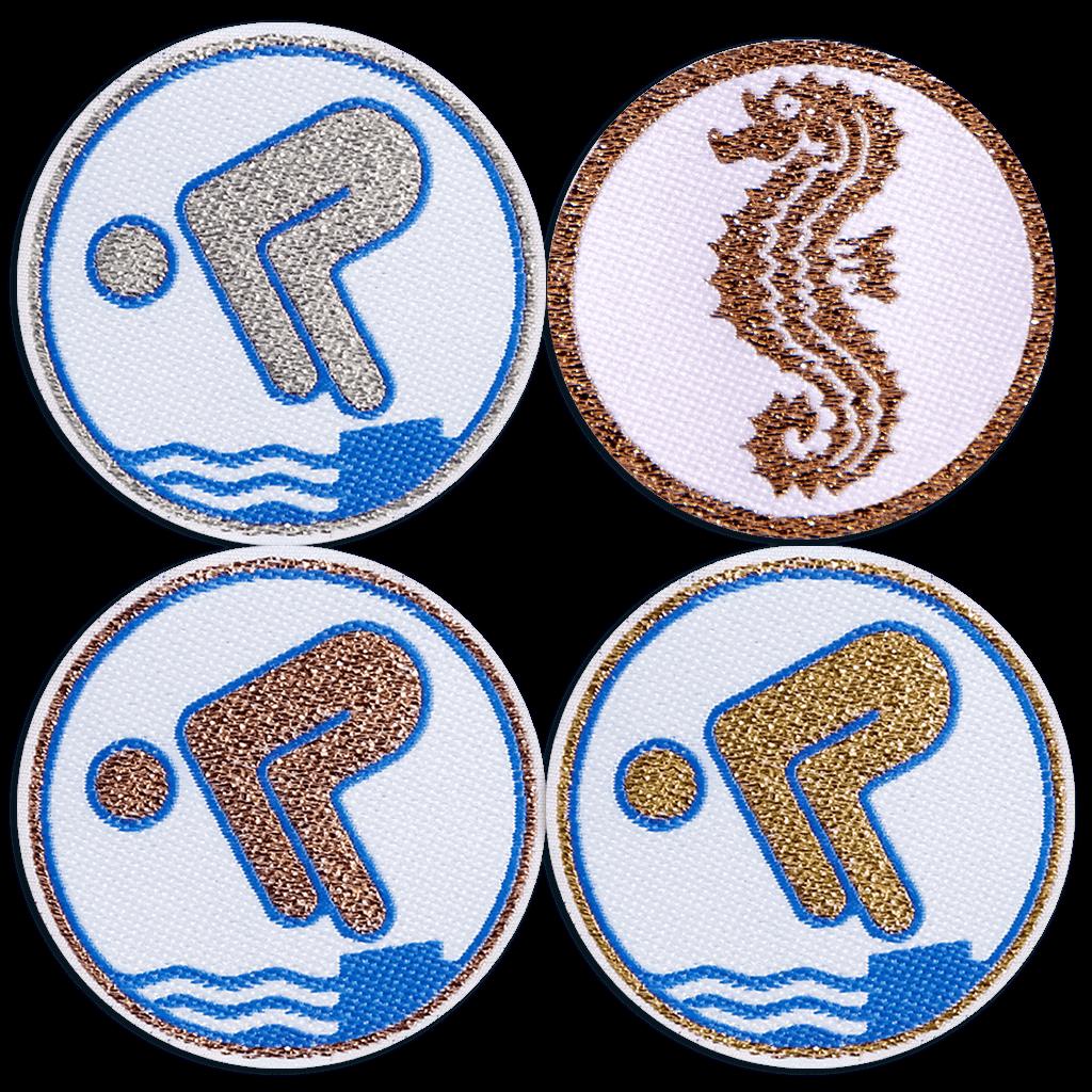 Seepferdchen-, Bronze-, Silber- und Goldschwimmabzeichen